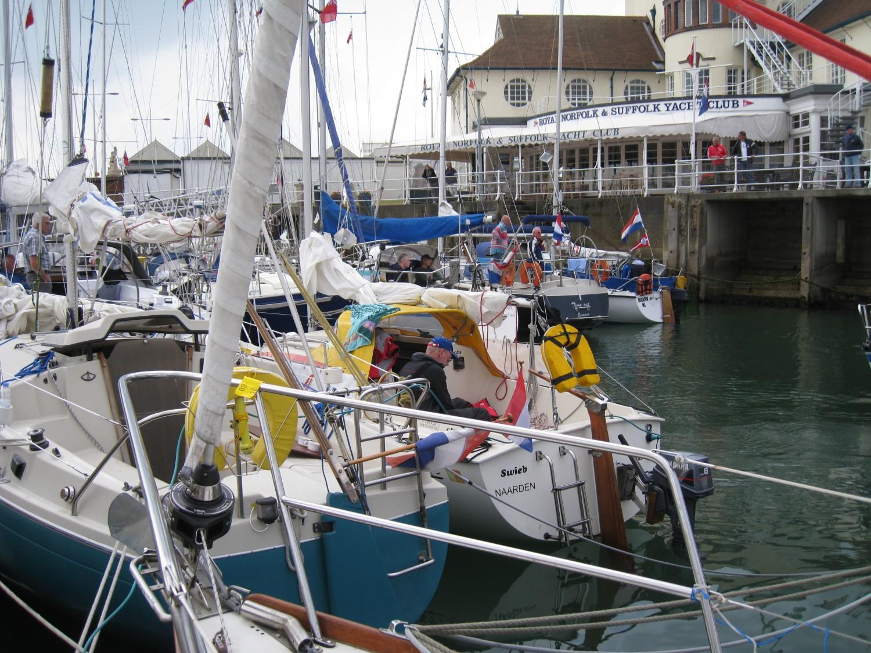 De jachtclub in Lowestoft.