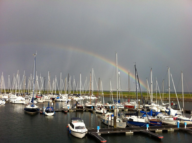 Regenboog op Texel
