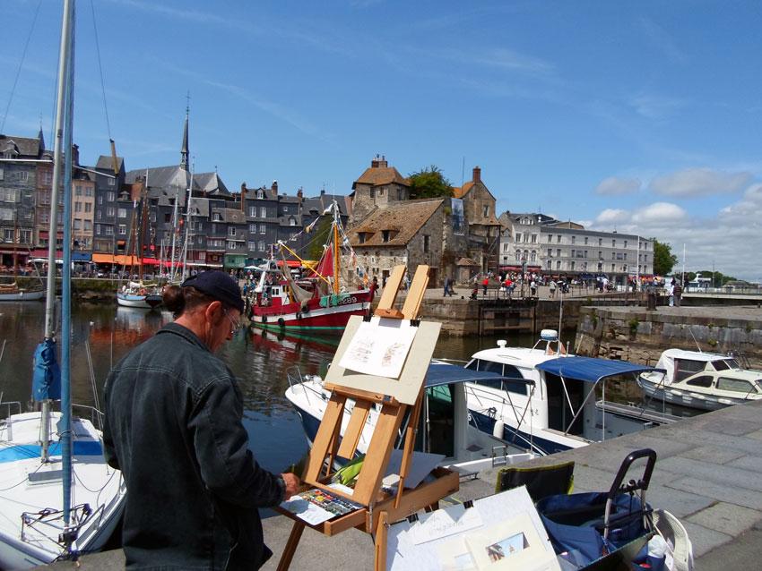 Kunstschilder in Honfleur